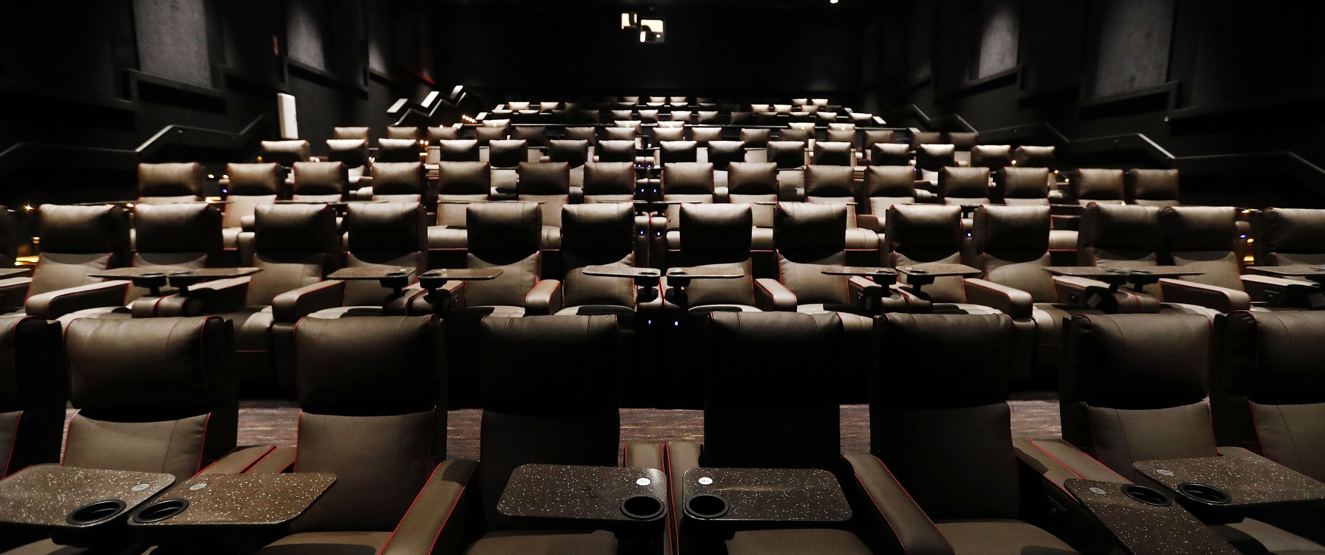Seats in the newly refurbished downtown AMC Market Arcade 8 Theatre. (Mark Mulville/Buffalo News)