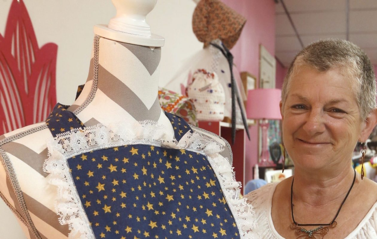 Michele Kreinbuhl, a cancer survivor, has raised   tens of thousands of dollars for cancer research by donating a portion of her shop's sales to Ride for Roswell.  (Robert Kirkham/Buffalo News)