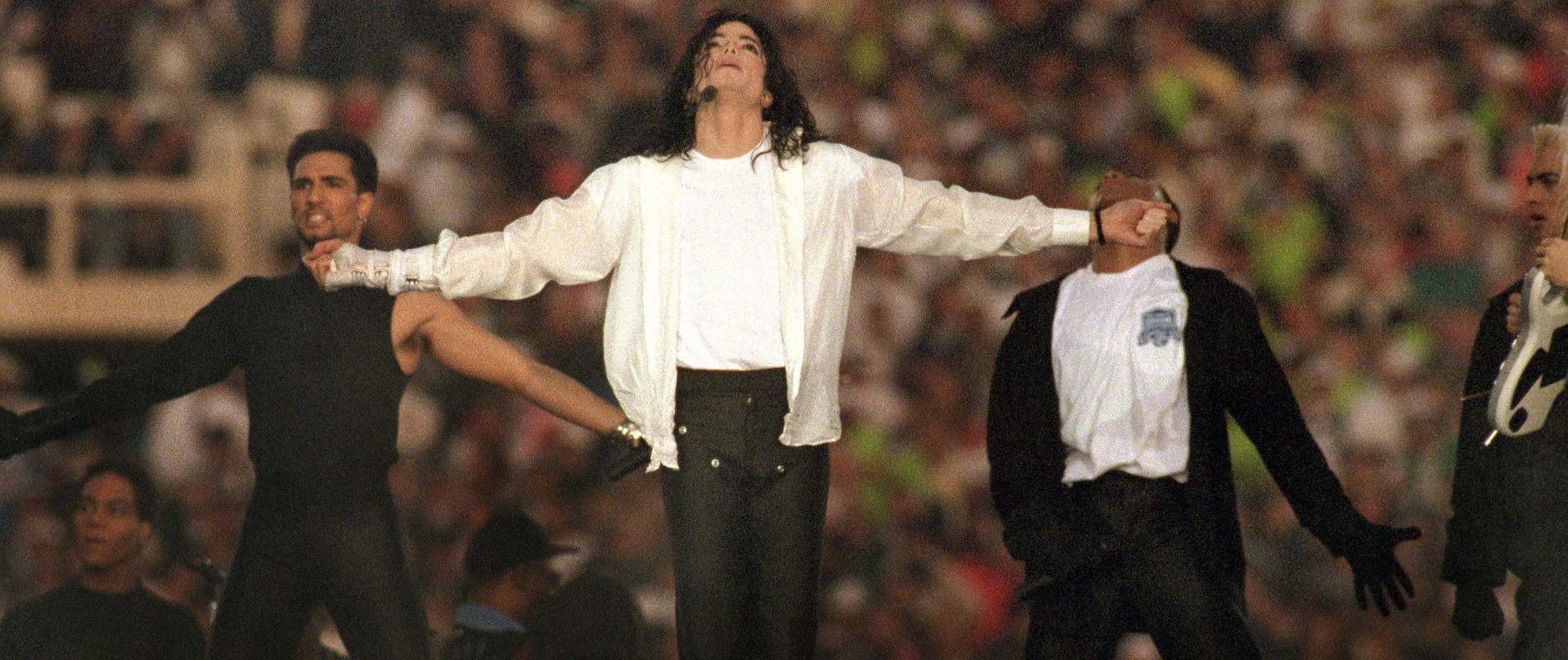 Jeff Miers writes of Michael Jackson's halftime show at Super Bowl XXVII: 'We might not have realized at the time what all of this would mean for Super Bowl halftime extravaganzas going forward.' (George Rose/Getty Images)