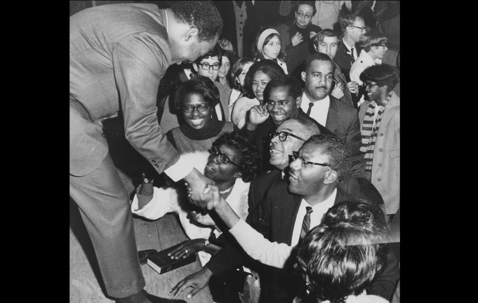 Dr. Martin Luther King Jr. at Kleinhans Music Hall in Buffalo, 1967. (Robert L. Smith/The Buffalo News/Courtesy Buffalo History Museum)