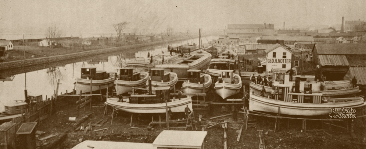 Erie Canal at the foot of Virginia Street, 1883.