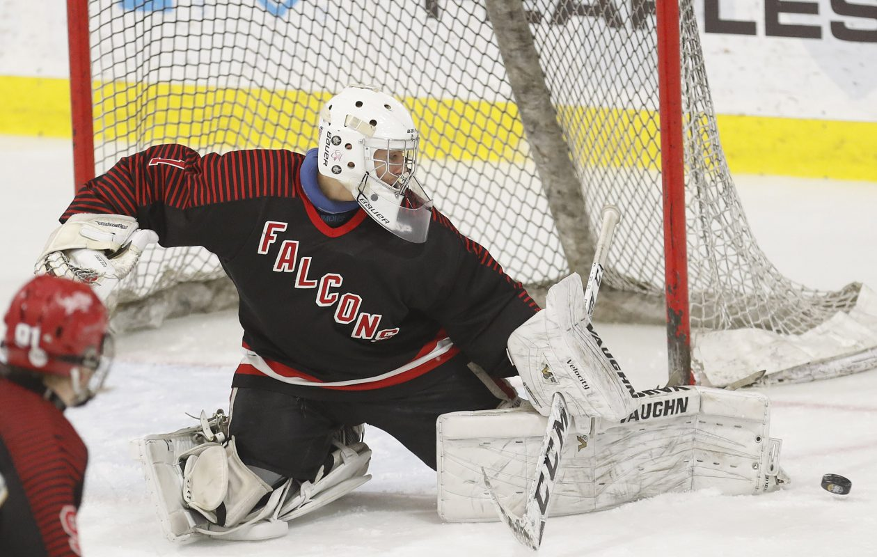 Niagara Wheatfield's Peyton Siegmann is one of the top goaltenders in the Fed. (Mark Mulville/Buffalo News file photo).