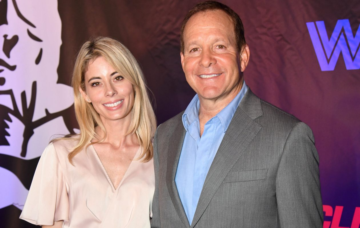 Emily Smith and Steve Guttenberg attend Freestyle Releasing's world premiere of 'Bigger' at the Orleans Arena on Sept. 13, 2018, in Las Vegas.  (Ethan Miller/Getty Images)