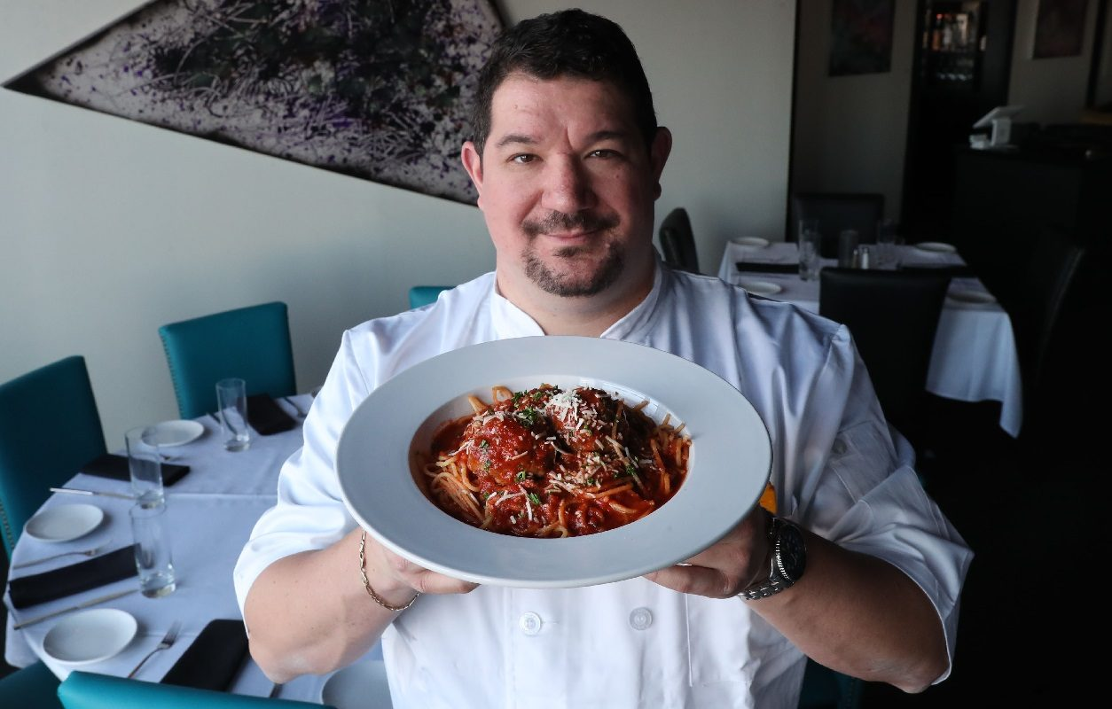 Richard Semonian, chef-owner at Novel in Amherst, will be paired with a student cook at the Taste of Education's live cooking competition. (Sharon Cantillon/Buffalo News)