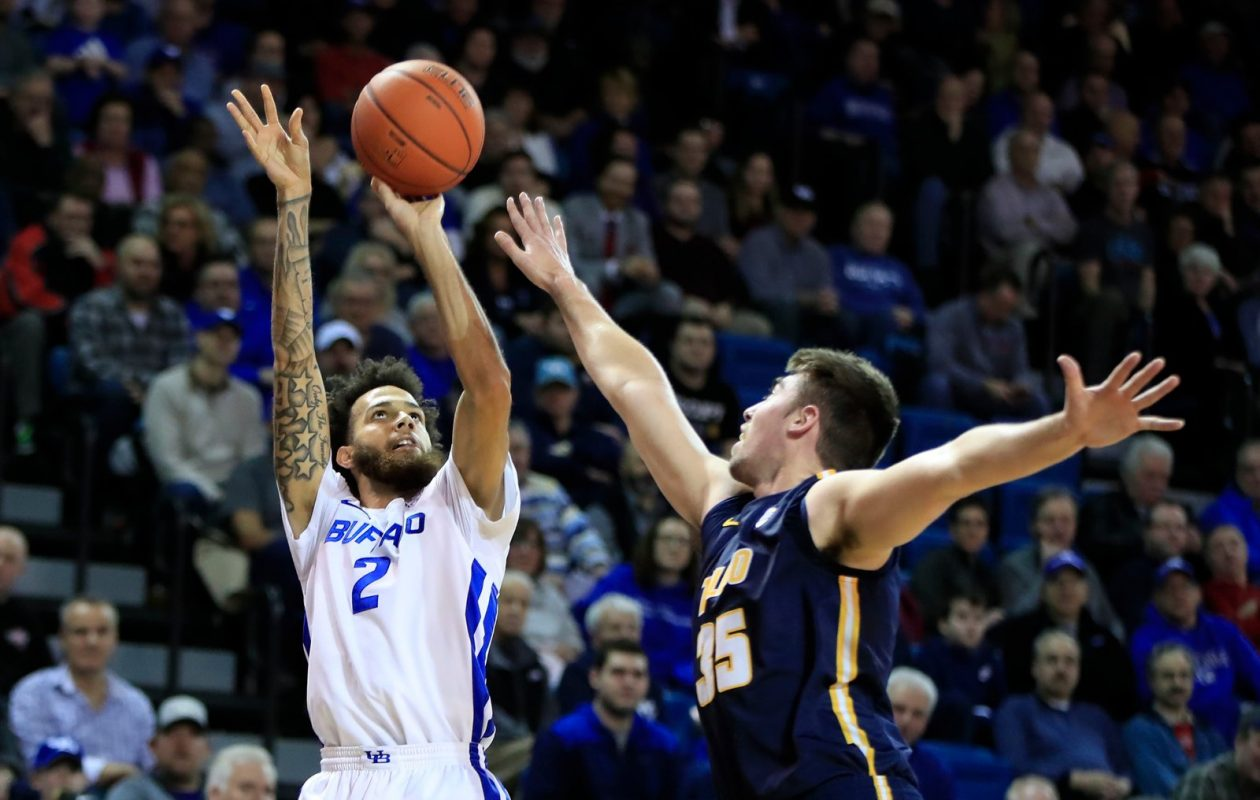 UB guard Jeremy Harris scored 34 points Tuesday in a 110-80 win against Toledo. (Harry Scull Jr./The Buffalo News.
