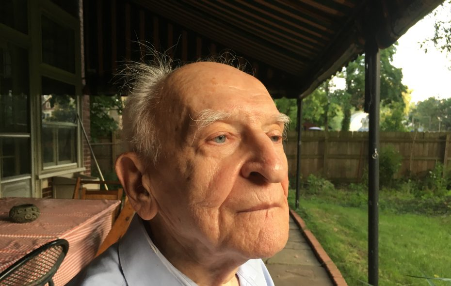 Tibor Baranski Sr. at his Buffalo home, 2017: During World War II, a direct role in saving thousands of lives. (Sean Kirst/Buffalo News)