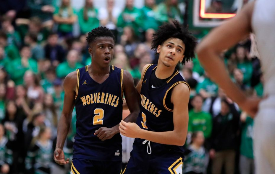 Willie Lightfoot, left, scored 19 of his 24 points during the second half to lead Niagara Falls' rally past host Lewiston-Porter Jalen Bradberry, right, finished with 17 points. (Harry Scull Jr./Buffalo News)