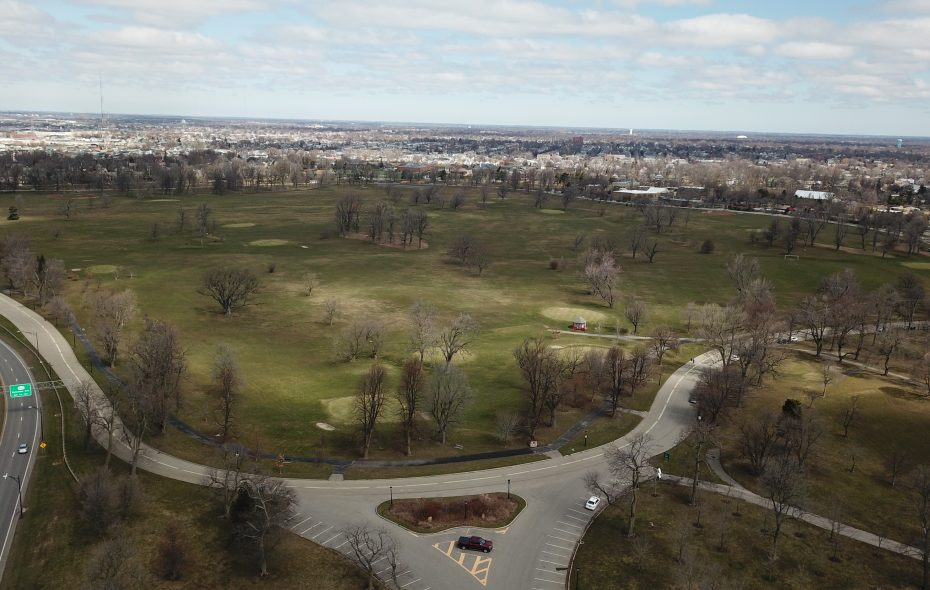 Landscape architect Frederick Law Olmsted designed a network of parks connected by tree-lined parkways in Buffalo, including Delaware Park. (John Hickey/Buffalo News)