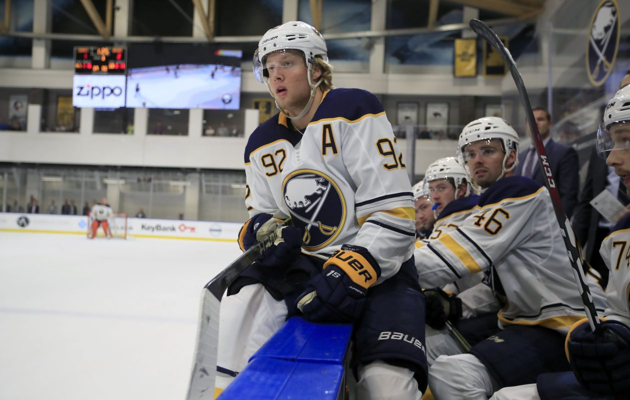 Buffalo Sabres prospect Alexander Nylander against the Boston Bruins during the Prospects Challenge at  Harborcenter on Saturday, Sept. 8, 2018. (Harry Scull Jr./Buffalo News)