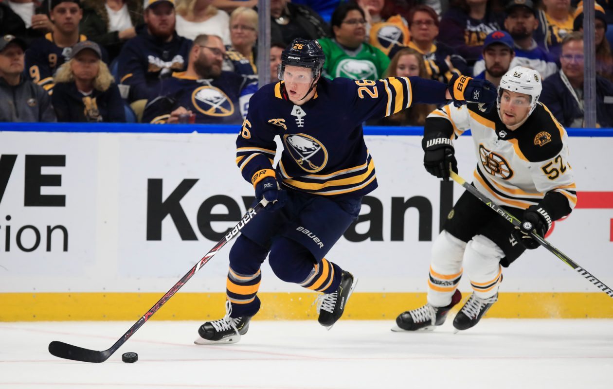 Rasmus Dahlin will get a chance to return home to Sweden for two games next season. (Harry Scull Jr./News file photo)