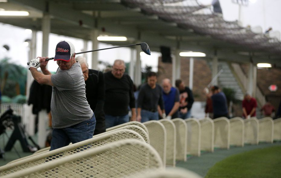 Golfers practice their swings at the Paddock Chevrolet Golf Dome in the Town of Tonawanda. (Mark Mulville/News file photo)
