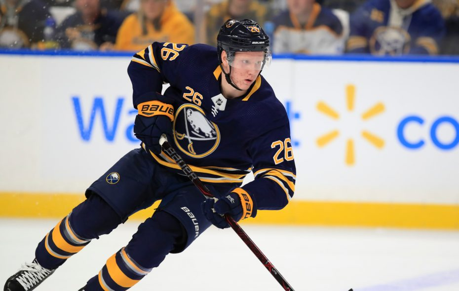 Rasmus Dahlin finished third among all rookies with 44 points last season. (Harry Scull Jr./News file photo)