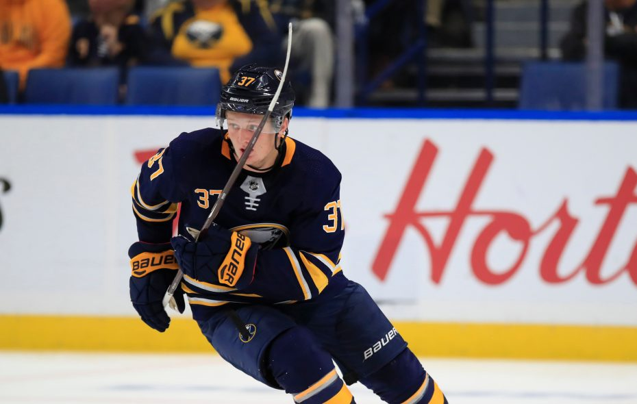 Casey Mittelstadt had 12 goals and 13 assists last season as a rookie for the Sabres. (Harry Scull Jr./News file photo)