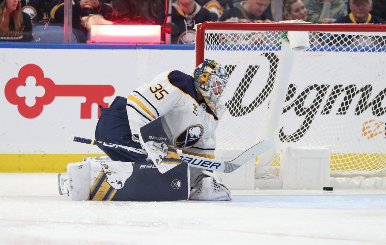 Buffalo Sabres goaltender Linus Ullmark. (James P. McCoy/Buffalo News)