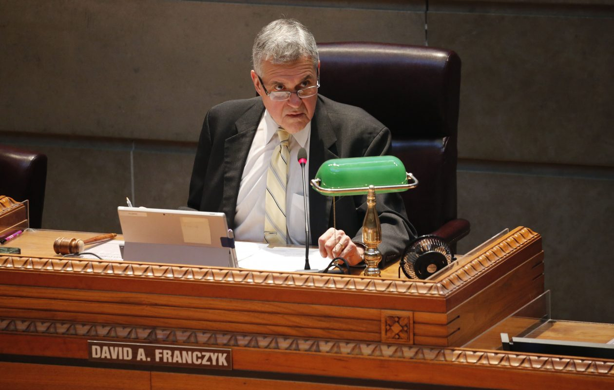 Fillmore Council Member David A. Franczyk is bowing out of the comptroller's race. (Derek Gee/Buffalo News)