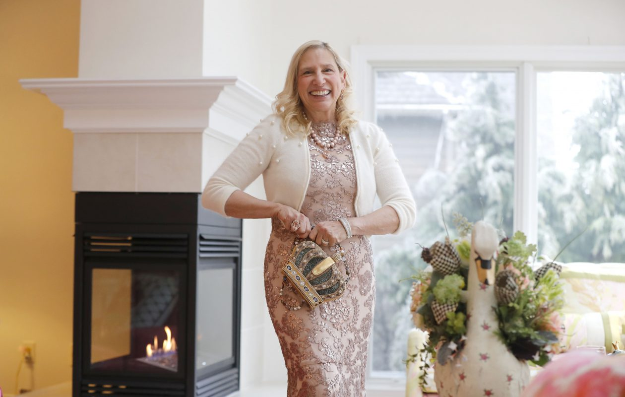 Susan Grelick dresses up for Fashion Friday.  (Mark Mulville/Buffalo News)