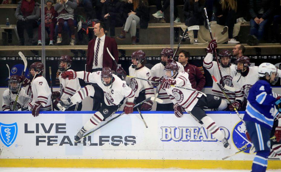 St. Joe's-St.Mary's-High School hockey-Harborcenter-Victory-Celebration