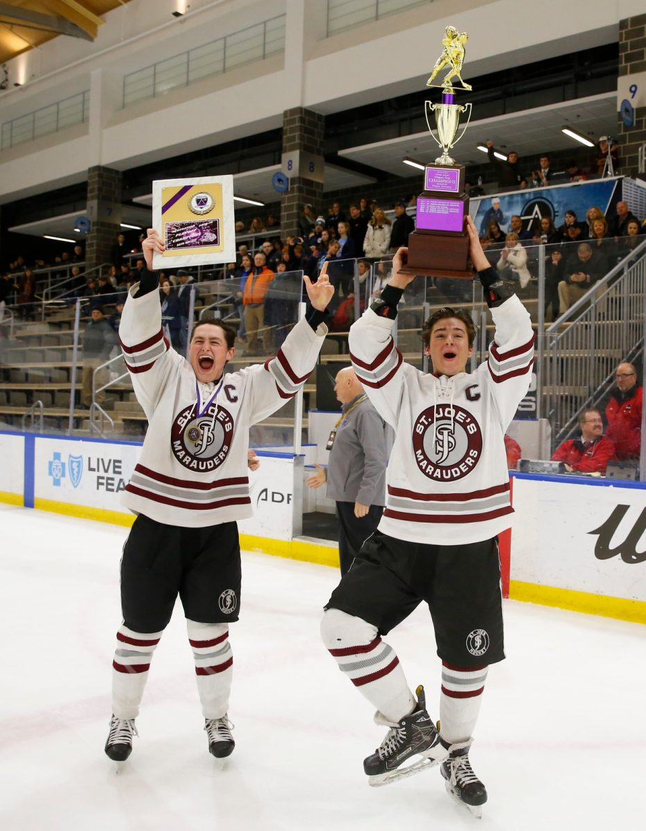 St. Joe's-St.Mary's-High School hockey-Harborcenter-Victory-Gilbert-Pavicich