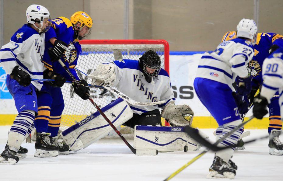 Grand Island-West Seneca West-High School hockey-Harborcenter-Goaltender-Stroh