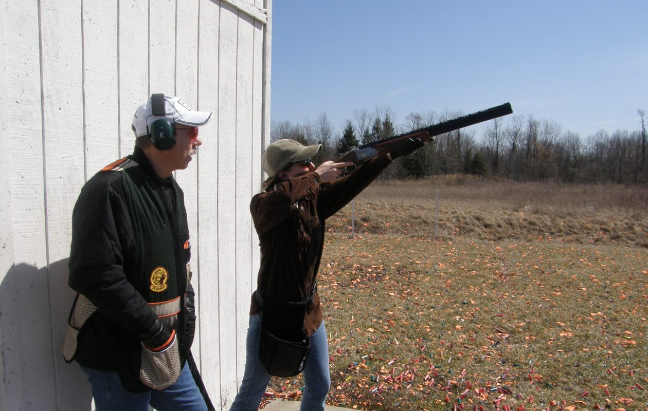 Shooting instruction and safe gun handling go hand in hand. This photo was taken at the Three-F Club in Lewiston. (Photo courtesy of Bill Hilts Jr.)