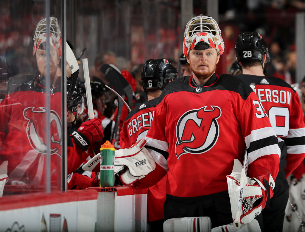 2f9ae166481 Devils goalie Cory Schneider snapped his 21-game winless streak Friday in  Minnesota and is