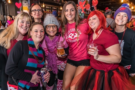 Smiles at Cupid's Undie Run hosted by Thin Man Brewery