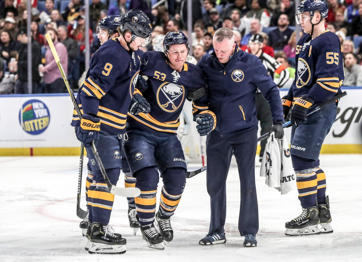 Sabres, Jeff Skinner avoid disaster, pull away for win over defending Cup champs