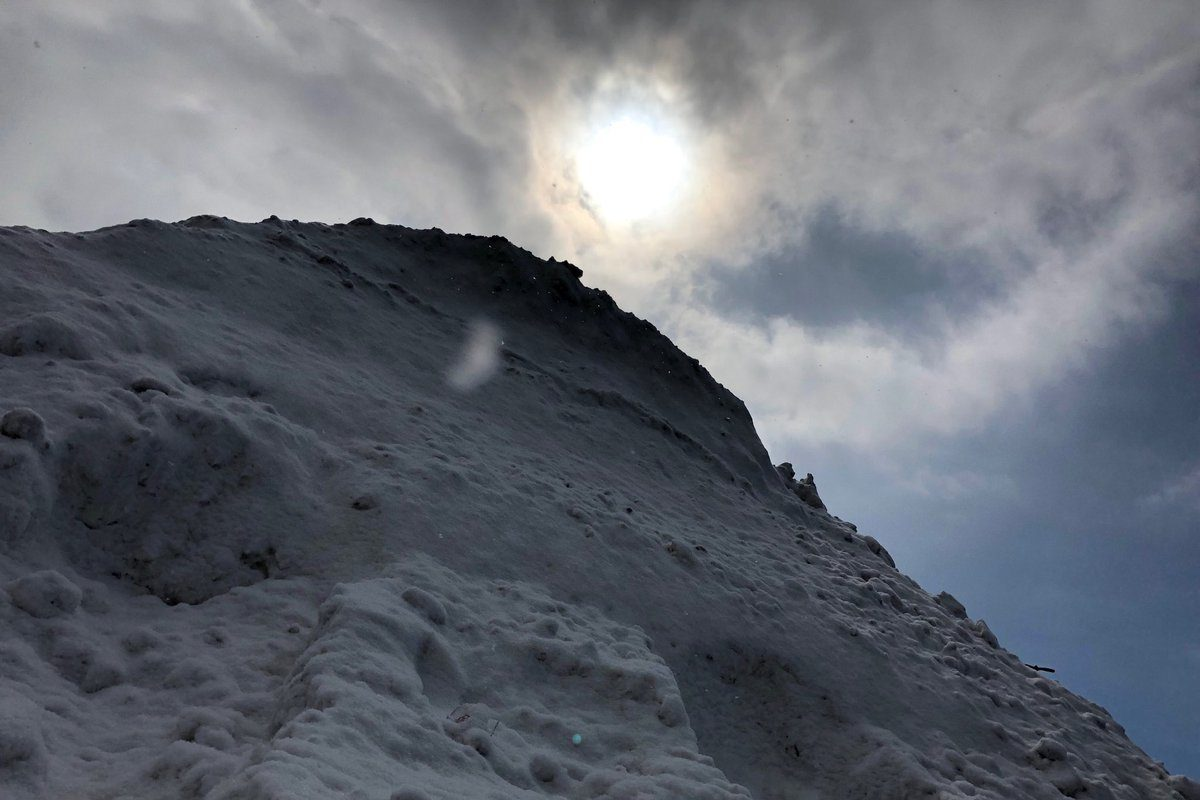 Snow piles like these in Buffalo won't shrink much over the next week to 10 days because of persistent cold, forecasts show. (T.J. Pignataro/Buffalo News)