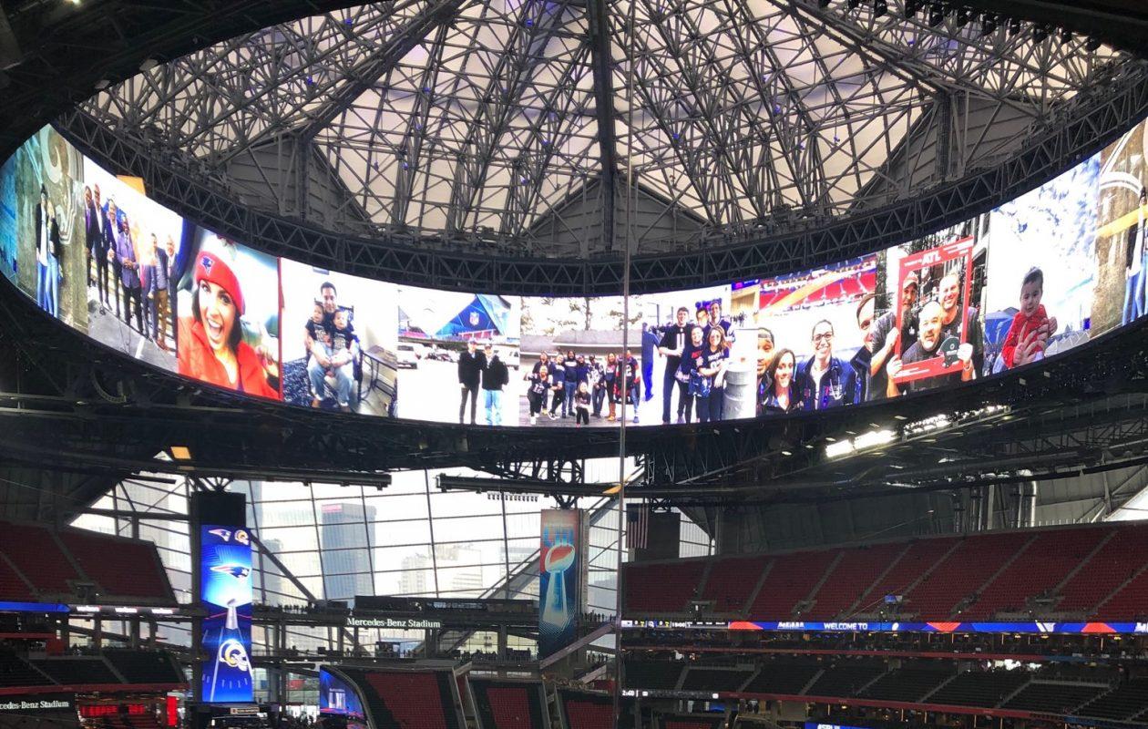 The scene before Super Bowl LIII at Mercedes-Benz Stadium in Atlanta. (Vic Carucci/Buffalo News)