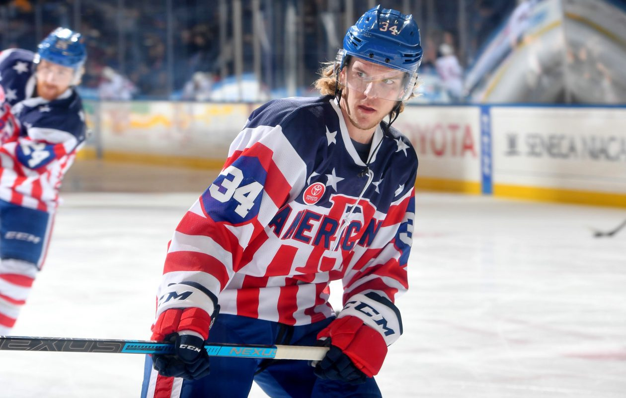 Casey Nelson began a conditioning assignment with the Amerks (Micheline Veluvolu/Rochester Americans)