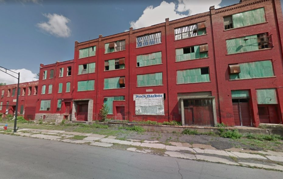 The former Fedders Automotive complex will be converted into apartments and self-storage under a proposal by developer Eran Epstein. (Google Maps)