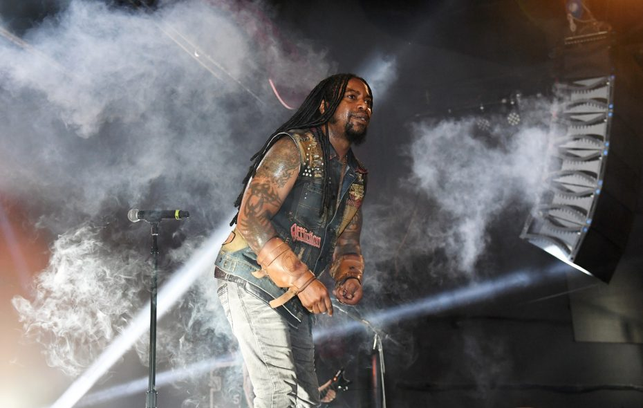 Singer Lajon Witherspoon and his band Sevendust will perform in Rapids Theatre this week. Ethan Miller/Getty Images)
