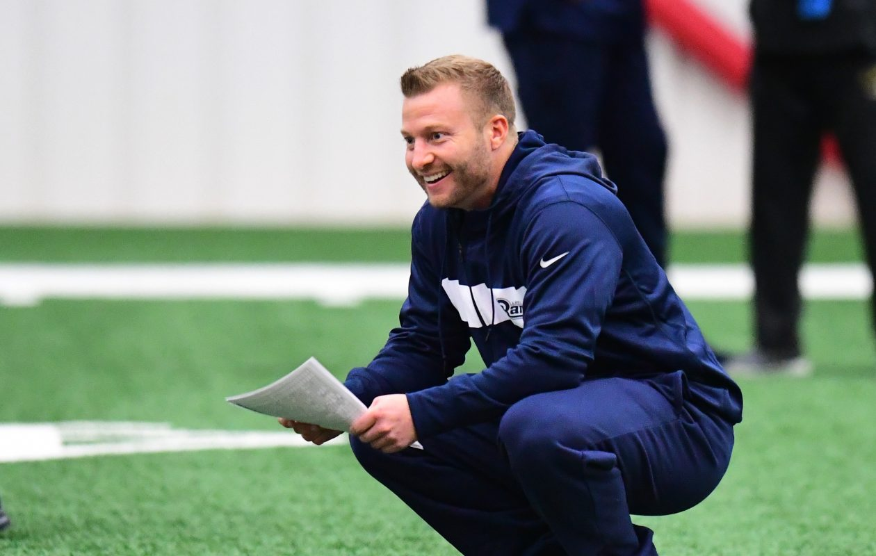 Rams coach Sean McVay looks at every angle when it comes to offense. (Getty Images)