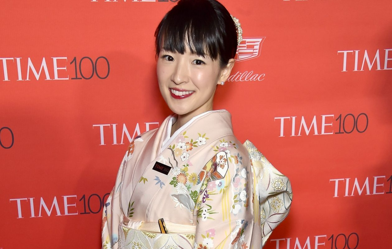 """In her book, """"The Life-Changing Magic of Tidying Up,"""" and Netflix series, Marie Kondo teaches people to re-evaluate the material things they keep squirreled away in their homes. Here she attends the  2016 Time 100 Gala, Time's Most Influential People In The World red carpet at Jazz At Lincoln Center. (Getty Images for Time)"""