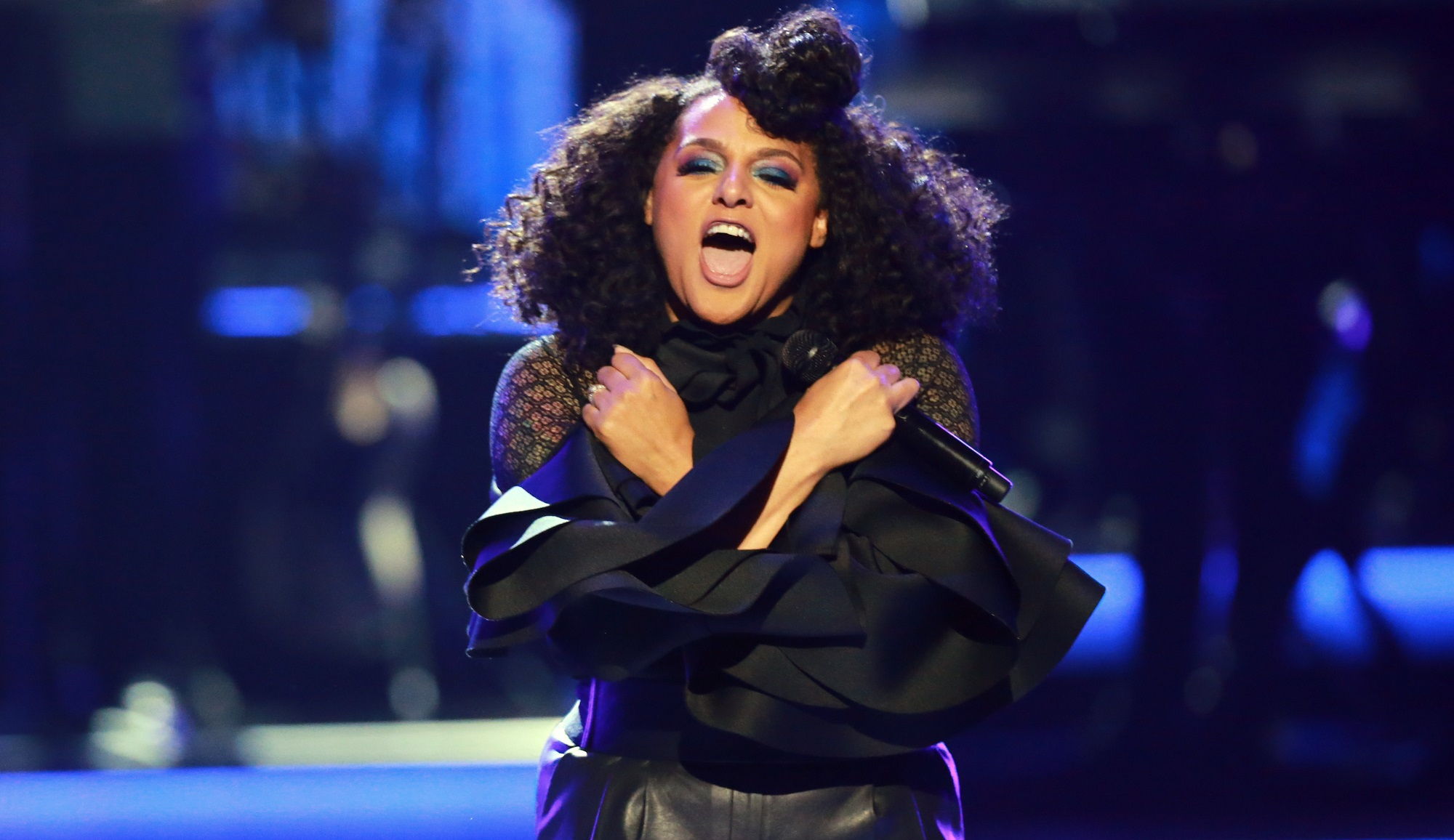 Marsha Ambrosius sold out her first show in the Tralf on Saturday, so a second was added. (Leon Bennett/Getty Images)