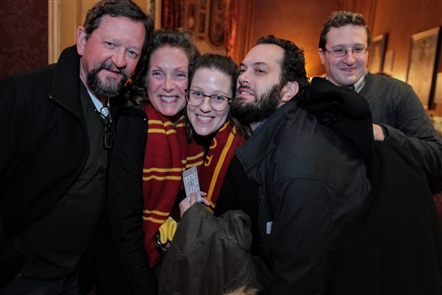 Harry Potter fans gathered to watch the first movie of the series,