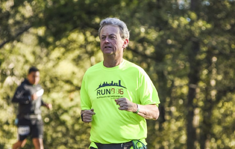"""I think we can all agree that one less piece of trash on the street or in the park is a good thing,"" says Jim O'Connor, founder and leader of Green Buffalo Runner. (Photo courtesy of Jim O'Connor)"