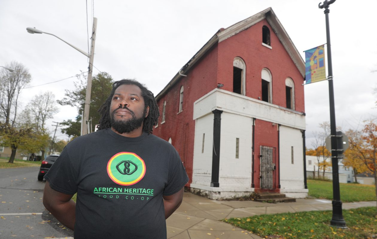 'They kept moving the goal posts,' said Alexander Wright of the owners who purchased this burned-out building at 238 Carlton. 'I just feel like they're playing games.' Wright wanted to purchase the building for his African Heritage Food Cooperative. (John Hickey/Buffalo News file photo)