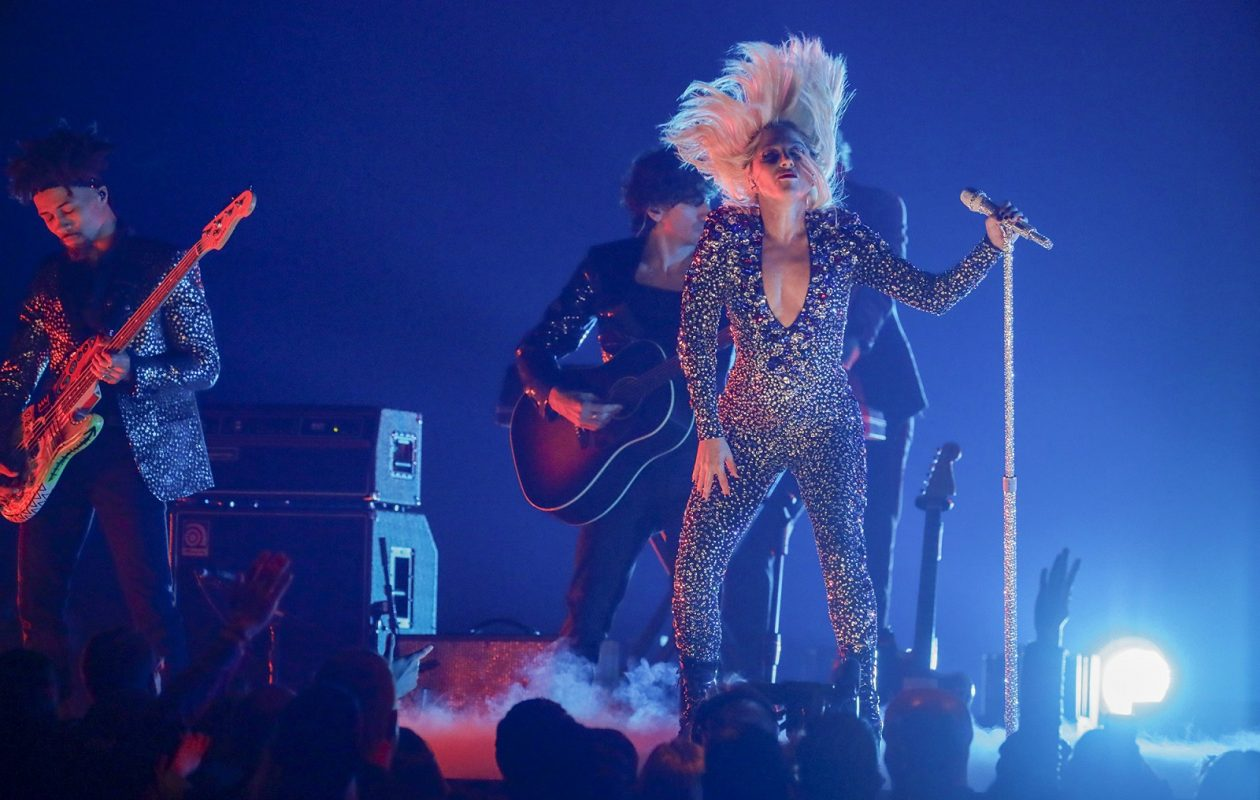 Lady Gaga performs during the 61st Grammy Awards. (Robert Gauthier/Los Angeles Times/TNS)