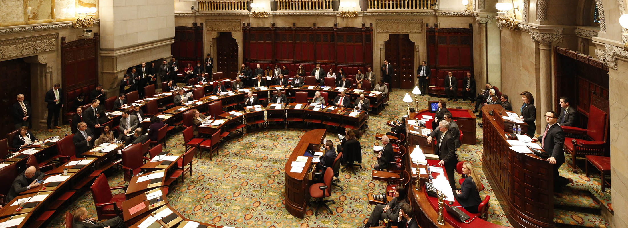 Lt. Gov. Kathy Hochul presides over the New York State Senate during session at the Capitol in Albany in 2016.  (Derek Gee/News file photo)