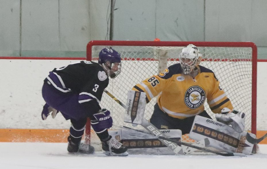 Niagara hosts Canisius in the first round of the 2019 Atlantic Hockey Association tournament beginning at 7 p.m. Friday at Dwyer Arena.  (James P. McCoy/News file photo)