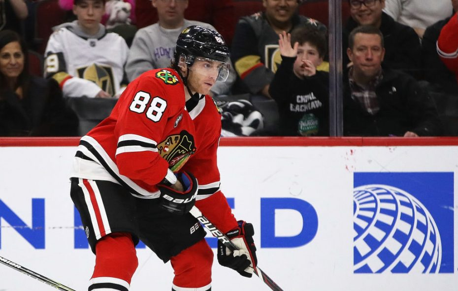 Patrick Kane leads the NHL in scoring since Jan. 1 with 21 points in 10 games. (Getty Images)