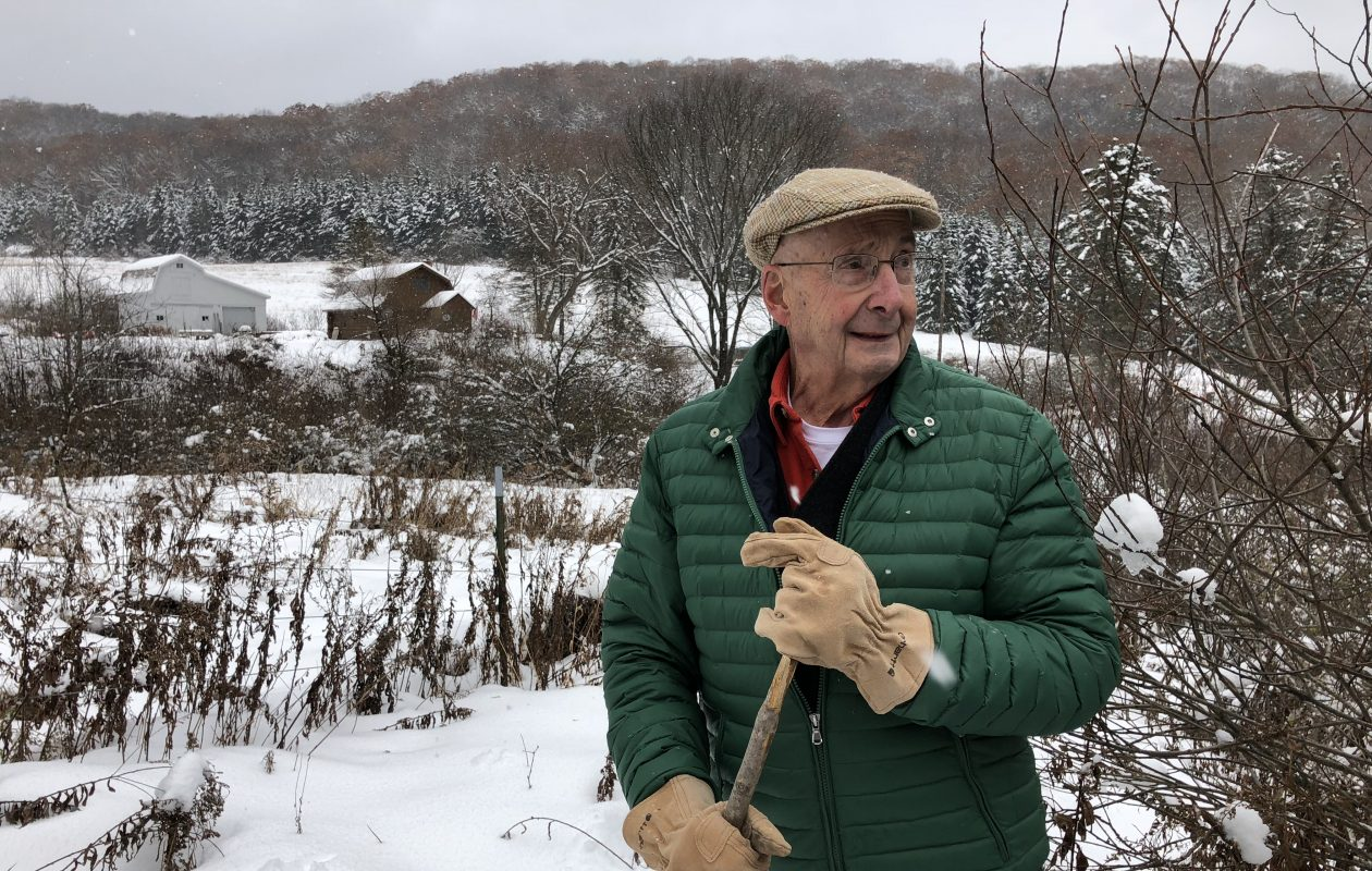 In November 2018, Joseph Schueckler of Cuba looks over his property, through which National Fuel Gas Corp. seeks an easement by eminent domain to construct its proposed Northern Access Pipeline. (T.J. Pignataro/Buffalo News)