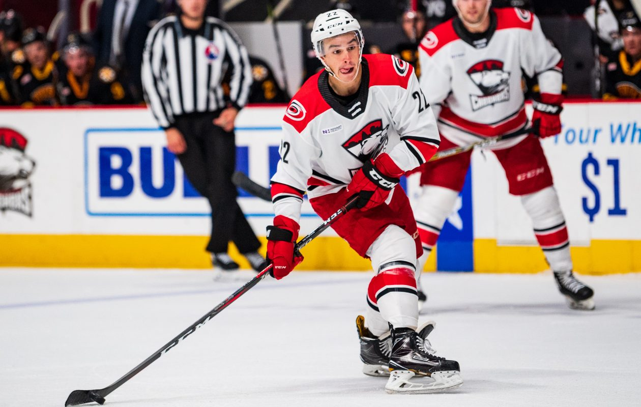 Willaimsville's Andrew Poyuraski is hoping to get another AHL opportunity with the Hurricanes (Charlotte Checkers)