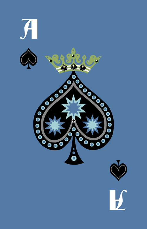 Ace of Spades for Rabbit Cards by Laura Inksetter.