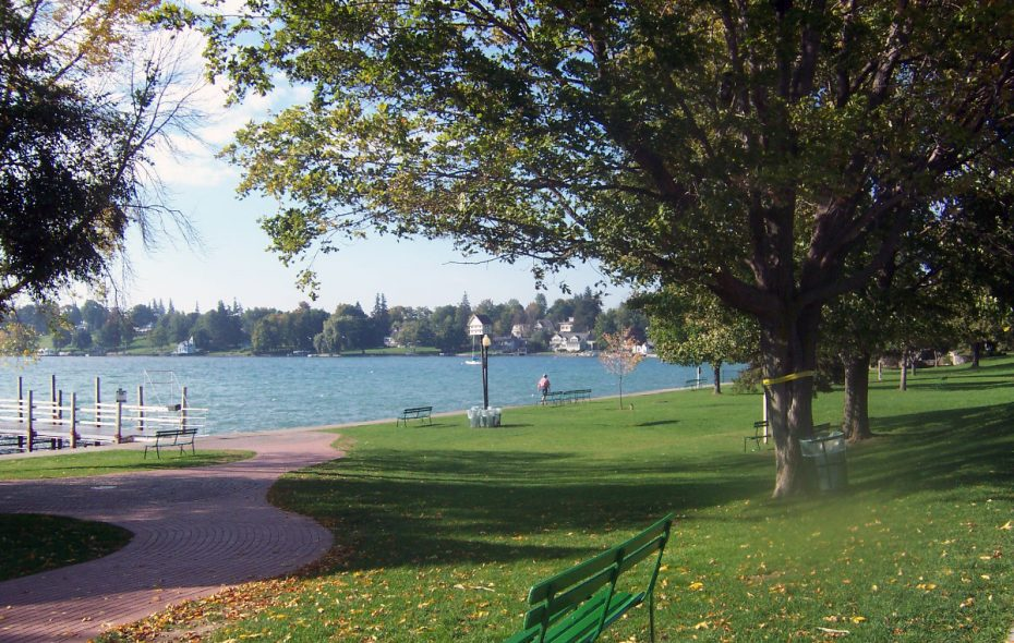 The Skaneateles lakefront includes wandering paths and a public beach  to enjoy the bucolic view. (Jennifer Lata Rung)