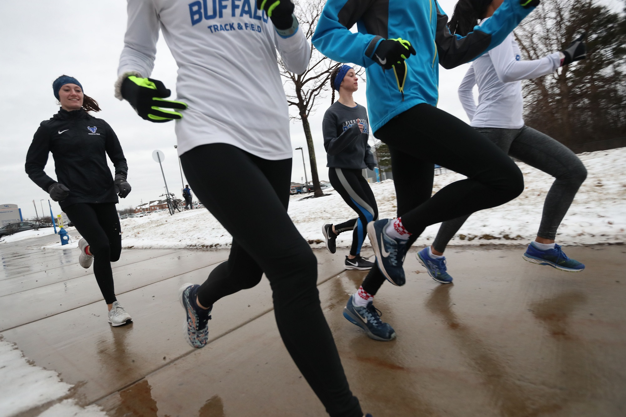 1dde1460abc4d Vicki Mitchell coaches the University at Buffalo track and cross-country  teams. Team members run outside even in most winter weather, including, ...