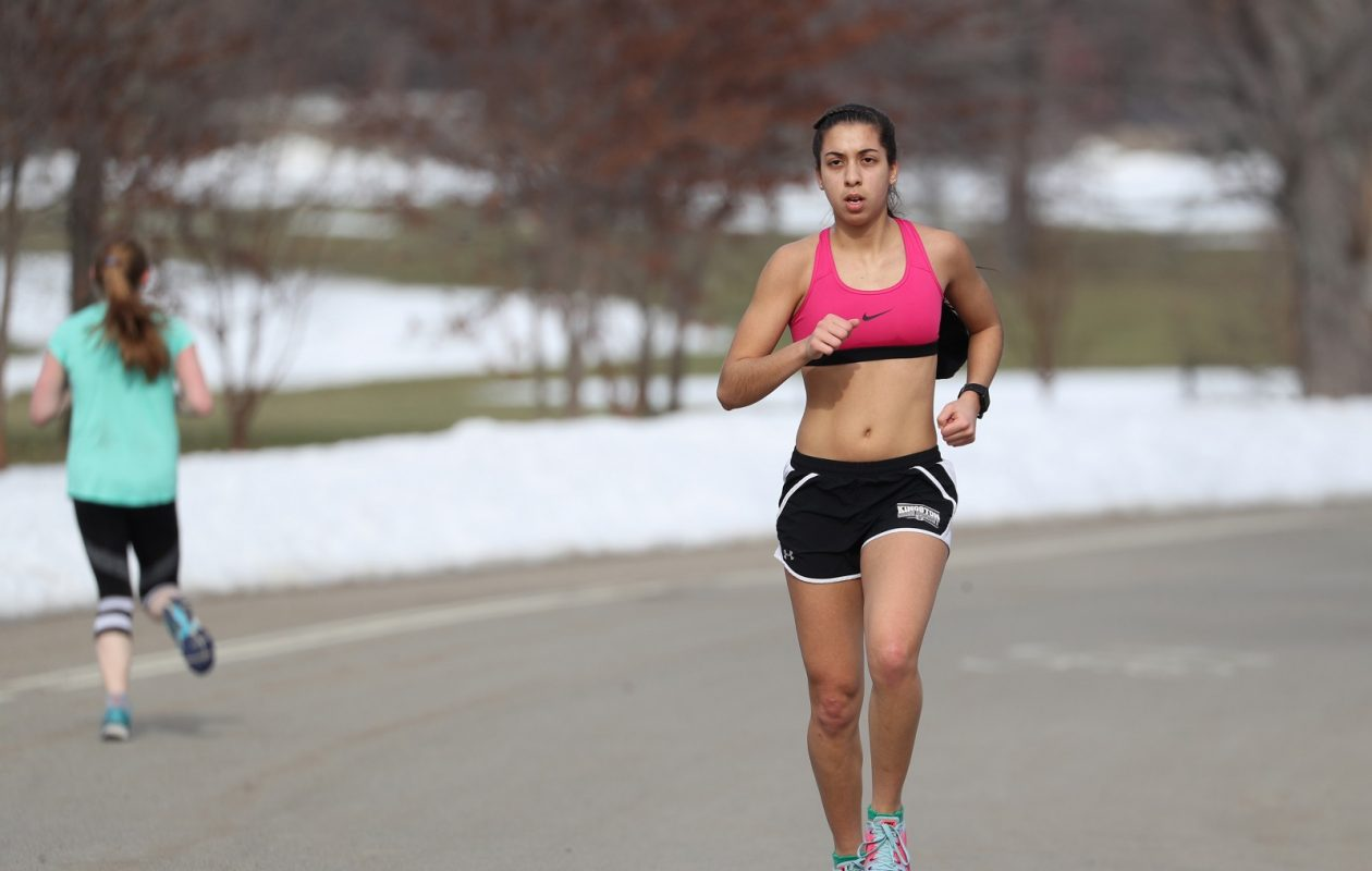 This is winter in Buffalo? It was Monday and many were out exercising at Delaware Park. Clara Sensini, a runner on the Buffalo State track team had to take her T-shirt off because she became too hot while running eight miles. (Sharon Cantillon/Buffalo News)