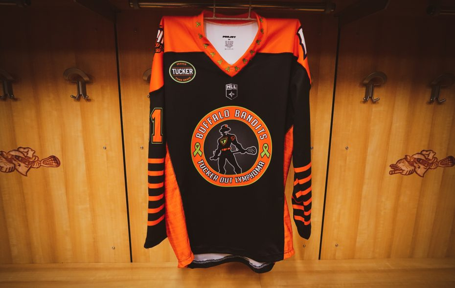 The Bandits will be wearing specially designed jerseys for the sixth Tucker Out Lymphoma Night. (Provided photo)
