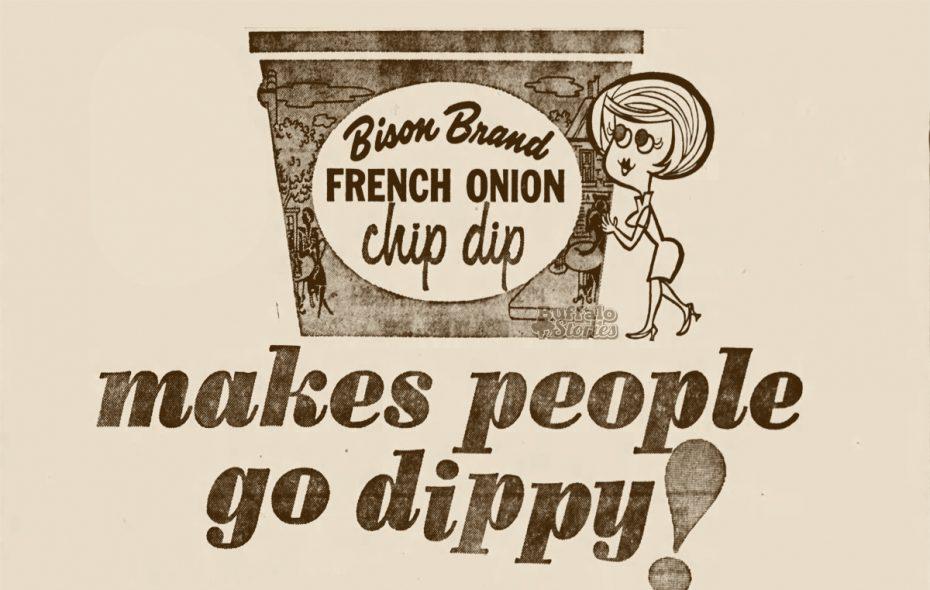 Bison chip dip ad, 1963.